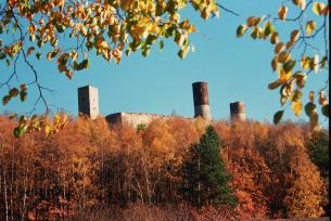 Zamek w Chęcinach jesienią