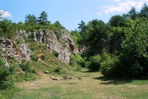 Góra Zelejowa miejsce eksploatacji kalcytu różanka zelejowska