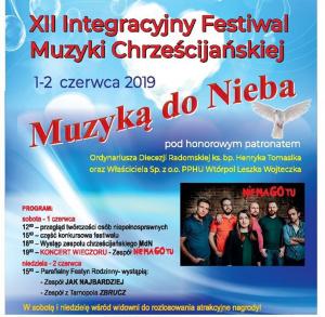 """XII Integracyjny Festiwal Muzyki Chrześcijańskiej """"Muzyką do nieba"""""""