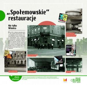 Społemowskie restauracje - wystawa