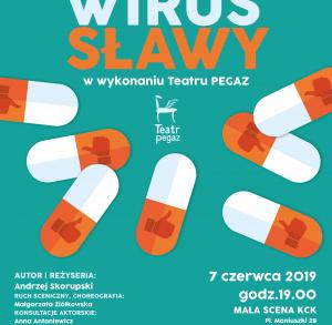 """""""Wirus sławy"""" - spektakl w KCK"""