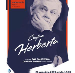 """Wydarzenie """"Czytam Herberta"""" we Włoszczowie"""