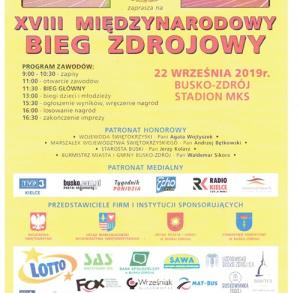 XVIII Międzynarodowy Bieg Zdrojowy 2019 w Busku-Zdroju