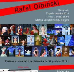 Wernisaż wystawy Rafała Olbińskiego w Bibliotece UJK w Kielcach