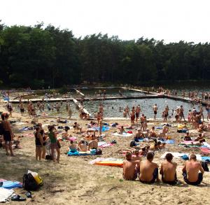 """Kąpielisko Ośrodek Wypoczynkowy """"Wilga"""" w Golejowie (kąpielisko dostępne 22.06. - 31.08.)"""