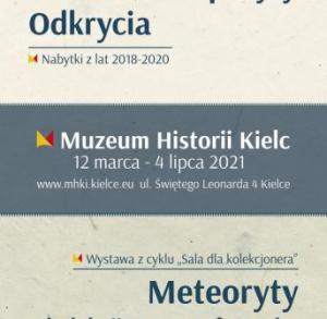 """Wystawa """"Meteoryty z kolekcji Krzysztofa Sochy"""" w Muzeum Historii Kielc"""