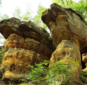 The Skałki Piekło (Hell Rocks) pod Niekłaniem