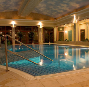 "Indoor Swimmig Pool of ""Malinowy Zdrój"" Hotel in Solec-Zdrój"