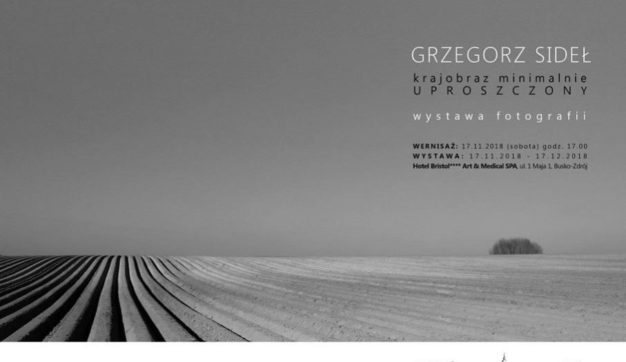 Grzegorz Sideł - krajobraz minimalnie uproszczony wystawa fotografii