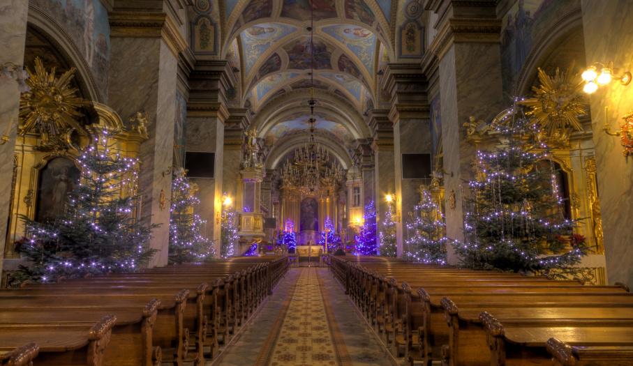 Wnętrze kieleckiej katedry