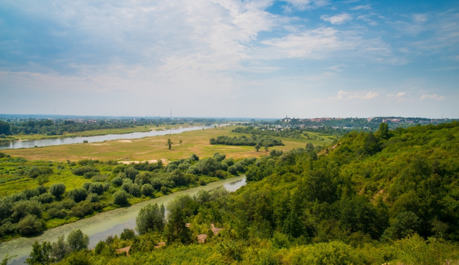 Widok na dolinę Wisły z Gór Pieprzowych