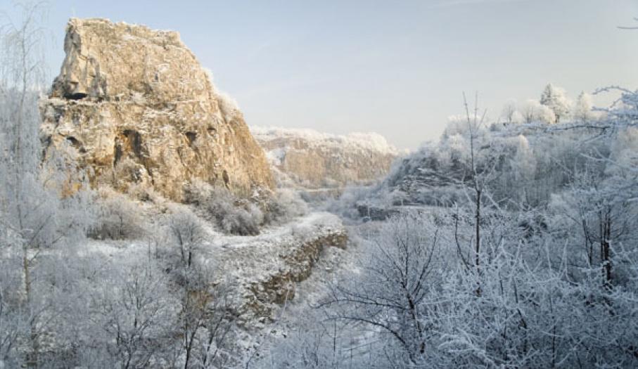 Kadzielnia zimową porą
