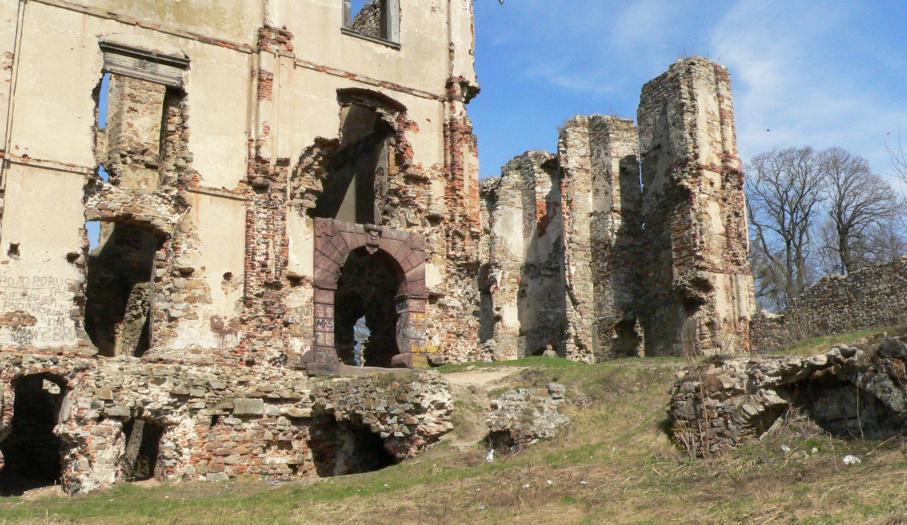 Ruins of the castle in Bodzentyn