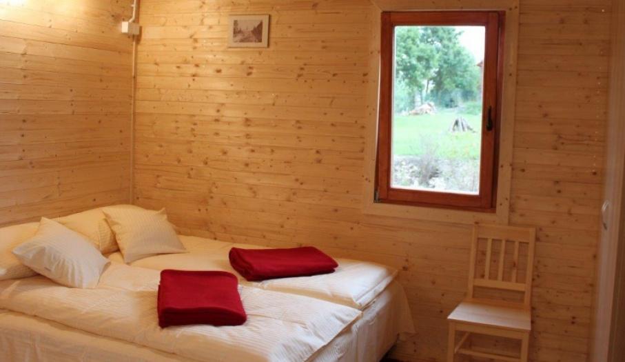 Domki parterowe - łóżko