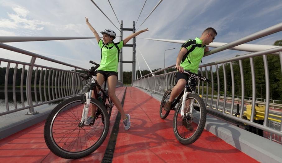 Przejazd do rowerów w Sielpi