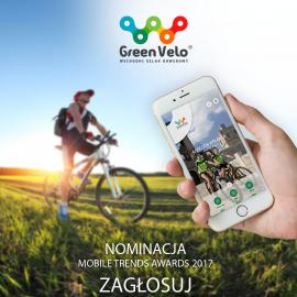 """Zagłosuj na aplikację """"Green Velo"""""""