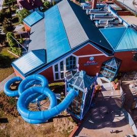 Rura do zjeżdżania z multimediami - nowość na basenie Perła w Nowinach