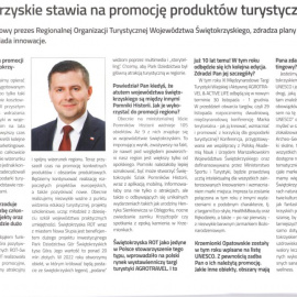 Świętokrzyskie stawia na promocję produktów turystycznych - wywiad z prezesem ROTWŚ
