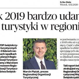 Dobry rok dla świętokrzyskiej turystyki- wywiad z Marcinem Piętakiem, prezesem ROTWŚ