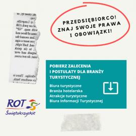 Biura Informacji Turystycznej - zalecenia, postulaty, działania podczas stanu zagożenia epidemicznego