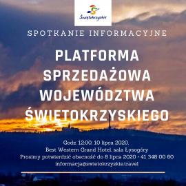 Spotkanie informacyjne - platforma sprzedażowa województwa świętokrzyskiego