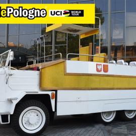 Pojazd Papieski na trasie Tour de Pologne 2020