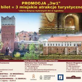 Zwiedzaj Sandomierz z biletem promocyjnym 3 w 1 !