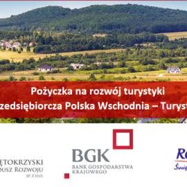 """Pożyczka na rozwój turystyki""""Przedsiębiorcza Polska Wschodnia –Turystyka"""""""