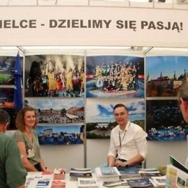"""Stoisko Kielc na V Targach Turystyki Weekendowej """"Atrakcje Regionów"""""""